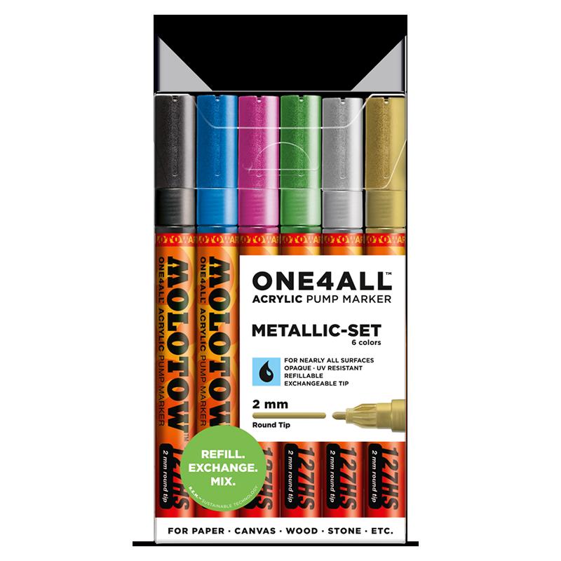 """ONE4ALL™ 127HS akril filctoll """"Metál"""" készlet"""