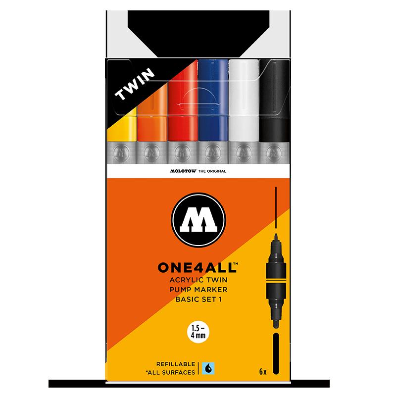 ONE4ALL™ Akril ikerhegyű filctoll alap készlet 1