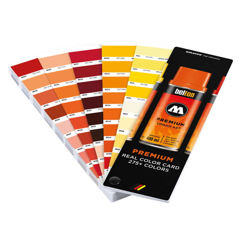 MOLOTOW™PREMIUM 275+ színkártya készlet