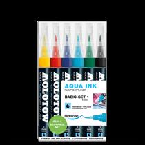 """""""Aqua Ink""""pumpás ecsethegyű filctoll alap készlet 1"""