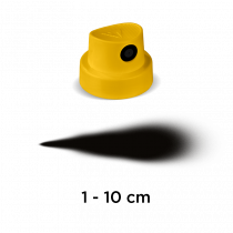 """Festékszóró fej - extra vastag  """"Yellow"""" (sárga/fekete)"""