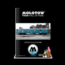 "MOLOTOW™ vonat poszter #01 ""Coming Home"""