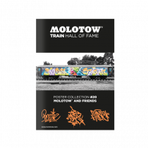 "MOLOTOW™ vonat poszter  #20 ""MOLOTOW™ AND FRIENDS"""