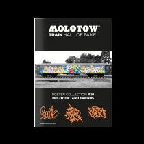 "MOLOTOW™ vonat poszter  #20 ""MOLOTOW™ AND FRIENDS"""