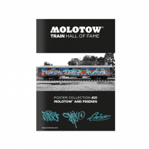 "MOLOTOW™ vonat poszter #21 ""MOLOTOW™ AND FRIENDS"""