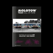 "MOLOTOW™ vonat poszter #22 ""MOLOTOW™ AND FRIENDS"""