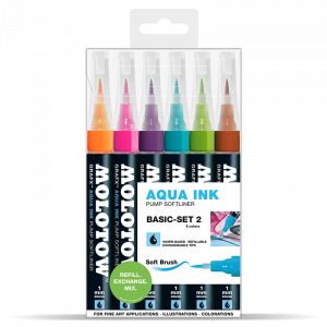 "Aqua Ink pumpás filctoll ""Alap"" készlet 2"