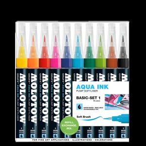"Aqua Ink pumpás filctoll ""Alap"" készlet 3"